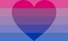 Bandeira biflux específica para biflux como orientação romântica