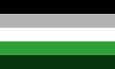 Versão alternativa da bandeira grey-arromântica