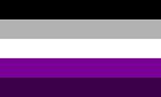 Versão alternativa da bandeira gray-assexual