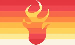 Bandeira Gênero-fogo