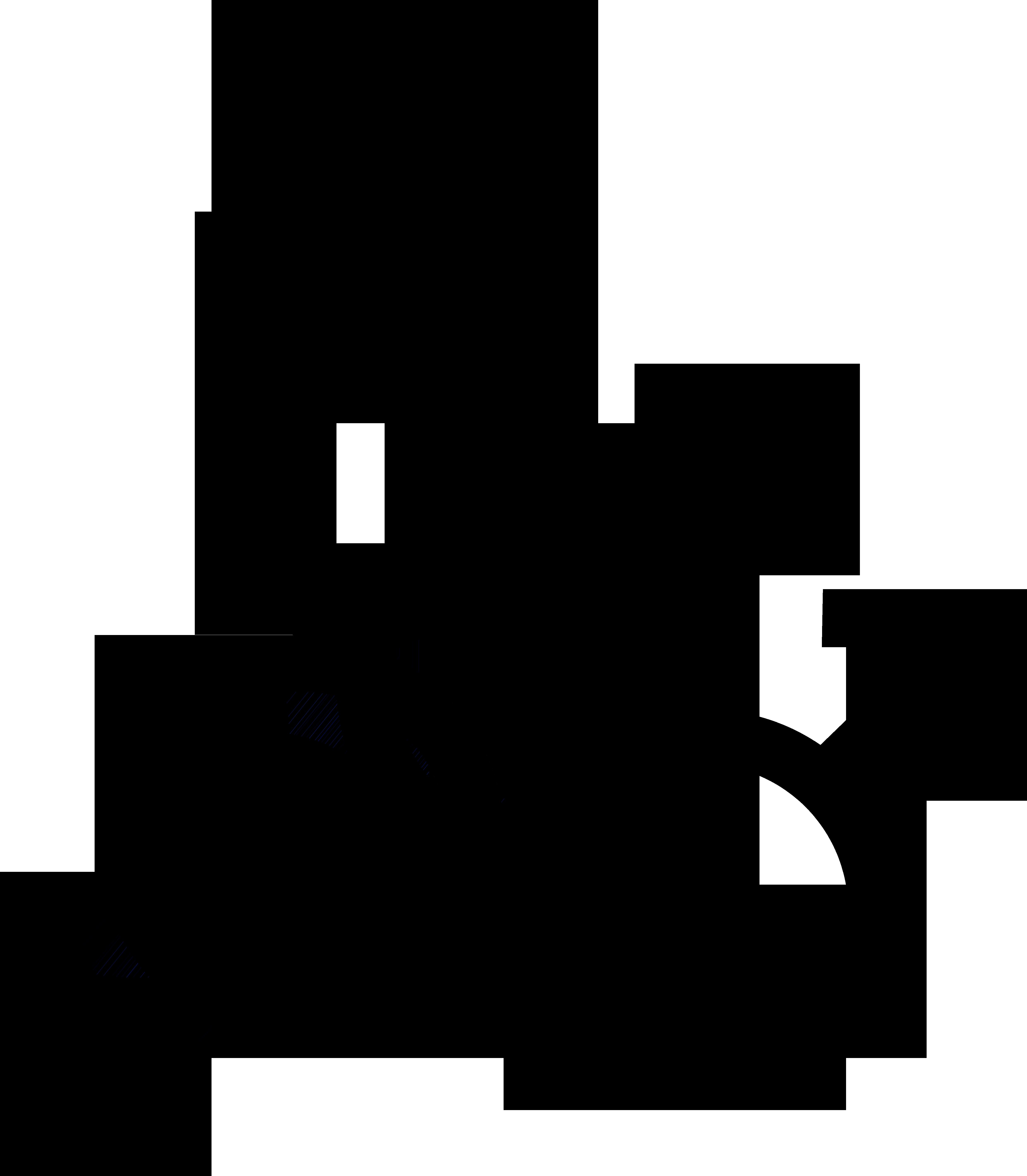 Nonbinary man symbol interlocked with a nonbinary symbol, a Venus symbol, and a Mars symbol.