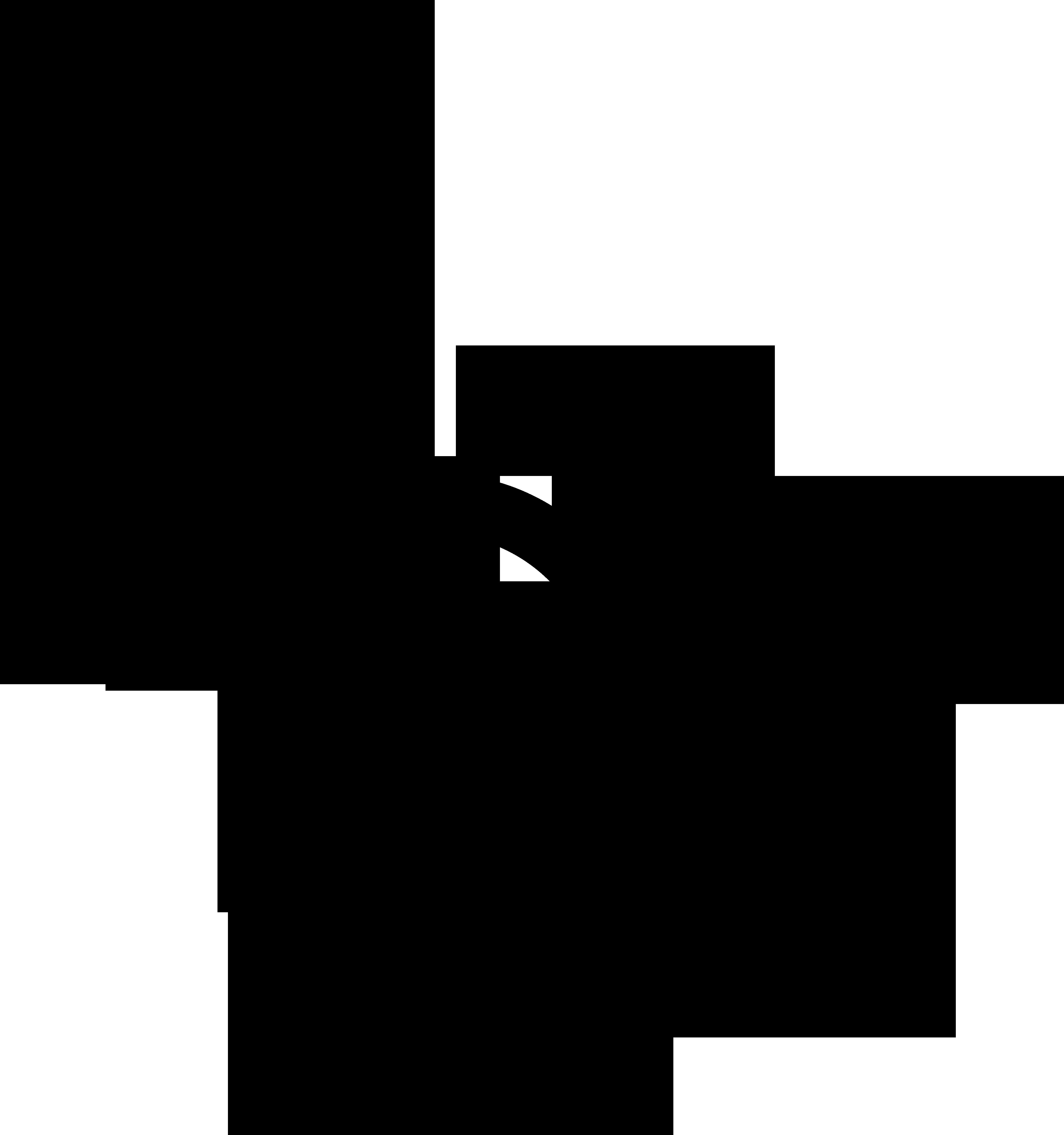 Nonbinary man and woman symbol interlocked with a nonbinary symbol and a Mars symbol.