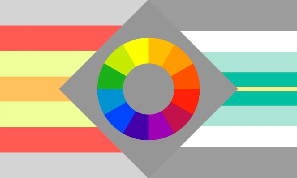 Uma combinação das bandeiras gênero-dissidente, gênero-cor e paragênero.