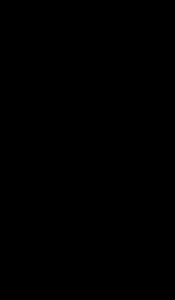 Uma letra A com um traço partindo de seu centro até um contorno de círculo maior.
